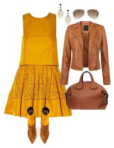 """""""Brownin'...."""" by la-harrell-styling-co on Polyvore featuring Fendi, Gianvito Rossi, Givenchy, Topshop and Ray-Ban"""