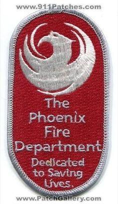 Phoenix Fire Department Patch Arizona AZ #FirePatch #Setcom