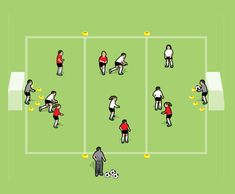 Basic handling, co-ordination, understanding of distances and angles, throwing and catching, calling for the ball. U6 Soccer Drills, Fun Soccer Games, Football Coaching Drills, Football Soccer, Soccer Ball, Soccer Skills For Kids, Fun Workouts, Fun Exercises, League Gaming