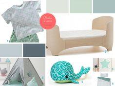 Noodboard verde come il mare  #cameretta #house #interior #moodboard# boy # homedecor #furniture #design