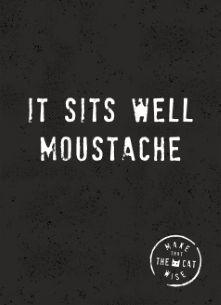 It sits well moustache! #Hallmark #HallmarkNL #movember #moustache #snor