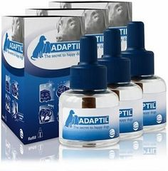 3 PACK ADAPTIL (D.A.P.) Dog Appeasing Pheromone REFILL (144mL) ** Click image for more details.