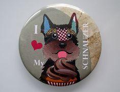 Schnauzer Dog Art Fridge Magnet, Minature Schnauzer Kitchen Decor, Gift Idea, 2. 25 inches diameter and 0.25 inches thick $6.25 USD  https://www.etsy.com/ca/listing/155792507/schnauzer-dog-art-fridge-magnet-minature?ref=shop_home_active