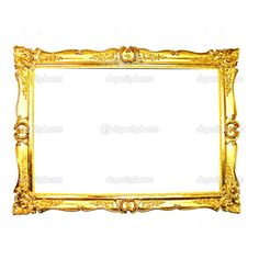 Vintage gold picture frame ❤ liked on Polyvore featuring frames, borders and picture frame