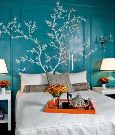 Fint träd på väggen