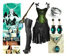 """""""Loki"""" by ironraven281 ❤ liked on Polyvore featuring Christian Louboutin and Charlotte Russe"""