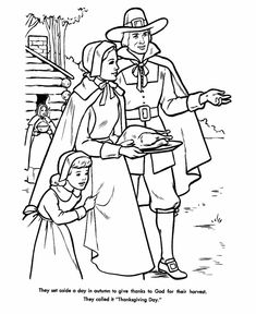 Thanksgiving Day Coloring Page Sheets For Kids FPilgrims Prepare The Feast Pages Including Pilgrims Native Americans Mayflower