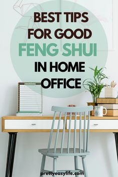 Check these amazing tips on how to Feng Shui Your Home Office and work better #fengshuitips Feng Shui Home Office, Feng Shui House, How To Feng Shui Your Home, Feng Shui Tips, Organized Mom, Work From Home Tips, Home Organization Hacks, Decorating Small Spaces, Home Hacks