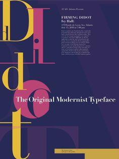 Didot Typographic Poster by Mariana Rivera, via Behance