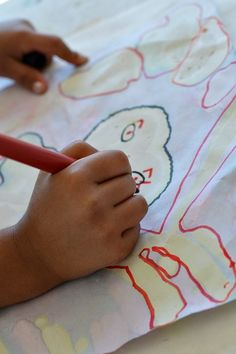 art activities for kids drawing wtih red cabbage water