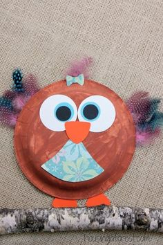 Paper Plate Owl ~ Easy kids craft Animal Crafts For Kids, Easy Crafts For Kids, Art For Kids, Creative Activities For Kids, Craft Activities, Fall Crafts, Arts And Crafts, Diy Crafts, Paper Plate Crafts