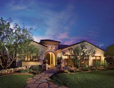 Montevista - Desert Willow Collection Toll Brothers (more at Gehan) walk way slabs