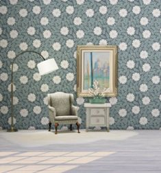 The Sims 4 RubyBird Julia Dreams Wallpapers Furniture, House, Wallpaper, Tapestry, Home Decor, Dream, Sims 4 Houses, Best Sims