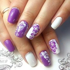 and Beautiful Nail Art Designs New Nail Designs, Different Nail Designs, Colorful Nail Designs, Nail Designs Spring, Spring Nail Art, Spring Nails, Beautiful Nail Art, Gorgeous Nails, Floral Nail Art