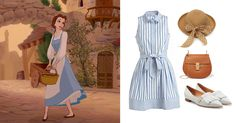 3 Parisian outfits inspired by Disney and Disney•Pixar characters   Beauty and the Beast   [ https://style.disney.com/fashion/2016/06/28/parisian-style/ ]