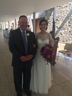 A massive congratulations to Mr & Mrs McInerney who got married here today. Here is the stunning bride Lisa pictured alongside her father before the ceremony began.