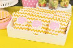Bella's Pink Lemonade Party packaging Italian sandwiches summerspastryperfect.com