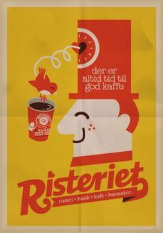 """""""Der er altid tid til god kaffe"""" (plakat - Tilbehør - Risteriet Webshop Vintage Advertisements, Vintage Ads, Vintage Posters, Tivoli Copenhagen, Danish Christmas, Time Design, Art Graphique, Vintage Coffee, Coffee Art"""