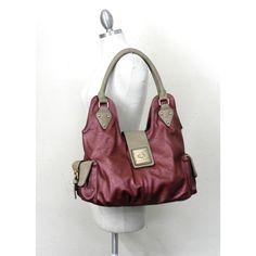 Handbagmadness - 2 Tone Turn-lock Shoulder Bag, $19.99…