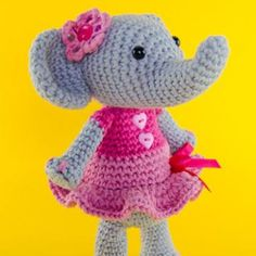 Sweet Elephant amigurumi pattern by One and Two Company