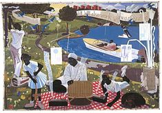 View PAST TIMES by Kerry James Marshall on artnet. Browse upcoming and past auction lots by Kerry James Marshall. African American Artist, American Artists, Visual Thinking Strategies, Sean Combs, Puff Daddy, Black Figure, Famous Artwork, Museum Of Contemporary Art