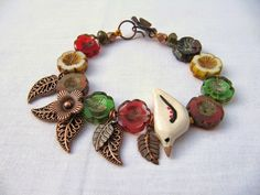 Inside the Studio with Claire Lockwood - great bracelet with Czech glass flower beads