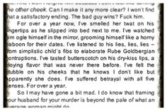 Gone Girl by Gillian Flynn - one of the most well detailed passages in the book in my opinion