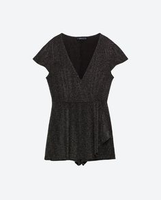 Image 8 of SHORT SHINY JUMPSUIT from Zara