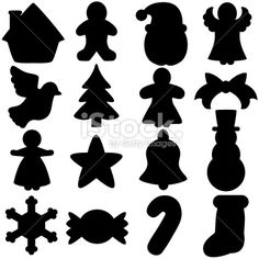 Vector Icons : Silhouette of Christmas Festival - Design Elements ...