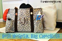 Best Hospital Bag Checklist EVER! #tidewaterparent #birth #checklist #hospitalbag
