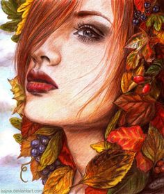 """""""Ode to autumn"""" - Pencil Drawings by eajna 