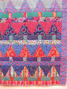 Secret Garden quilt.  Kaffe Fassett - I love this - combo of Kaffe and trees - all I need is a house!