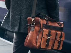 Our new Orient leather flight bag is a remarkable combination of vintage style and modern practicality. Mens Weekend Bag, Weekend Bags, Leather Satchel, Leather Handbags, Flight Bag, Work Gifts, Unique Gifts For Men, Leather Journal, Vintage Bags