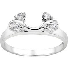 Bypass Style Solitaire  .12ct 14 Karat Gold by TwoBirchJewelers, $393.00