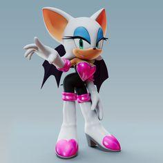 Rouge The Bat Render by Hedgehog Drawing, Hedgehog Art, Sonic The Hedgehog, Shadow The Hedgehog, Shadow And Rouge, Warframe Art, Rouge The Bat, Sonic Franchise, Sonic Fan Art