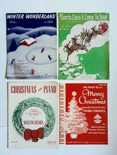 Vintage Sheet Music, First Christmas, Winter Wonderland, Songs, Song Books
