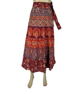 Indian Designer Wrap Around Skirt Cotton Printed Boho Clothing for Girls Mogul Interior,http://www.amazon.com/dp/B00D8WXGFI/ref=cm_sw_r_pi_dp_A2PSrbB150F641AF