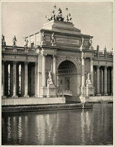 The Water Gate. Peristyle and Grand Basin. Large photographic print from The White City (As It Was), photographs by William Henry Jackson. World's Columbian Exposition 1893.