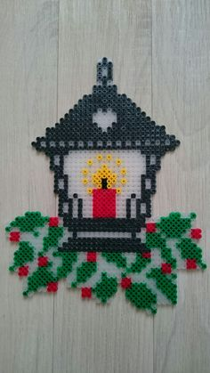 Christmas Lantern made of Hama Beads