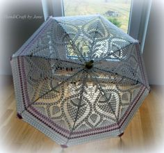 Crocheted parasol _ HandiCraft by Jane