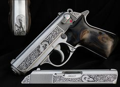 Hand engraved Walther PPK by Ian Morrison