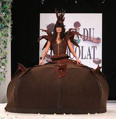 Salon du Chocolat in Paris - Chocolate Dress