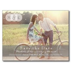 Country Chic Photo Wedding Save the Date Post Card