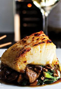 Miso Marinated Chilean Sea Bass Recipe - Tap on the link to see the newly released collections for amazing beach bikinis! Fish Dinner, Seafood Dinner, Fish And Seafood, Fish Recipes, Seafood Recipes, Cooking Recipes, Chilean Recipes, Dining, Gourmet