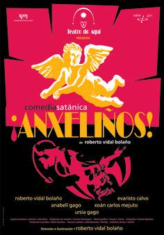 Cartel da obra Anxeliños, do ano 1996.