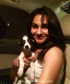 Andrea Jeremiah With her New Friend