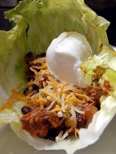 Mexican Chicken Lettuce Wraps - can't wait to try but with beef instead of chicken and served warm. Mexican Chicken Lettuce Wraps - can't wait to try but with beef instead of chicken and served warm. I Love Food, Good Food, Yummy Food, Tasty, Yummy Yummy, Delish, Chicken Lettuce Wraps, Cooking Recipes, Healthy Recipes