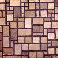 """Piet Mondrian """"Composition: Light Color Planes with Grey Contours"""" 1919 De Stijl Movement. Piet Mondrian, Kandinsky, Contour, Theo Van Doesburg, Composition, Plastic Art, Constructivism, Dutch Painters, Dutch Artists"""
