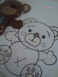 Molde urso feltro