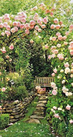 Ahhhh...a hidden garden sitting space to enjoy the moment.